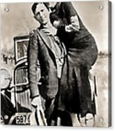 Bonnie And Clyde - Texas Acrylic Print