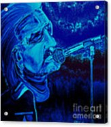 Bono In Blue Acrylic Print