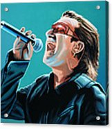 Bono Of U2 Painting Acrylic Print
