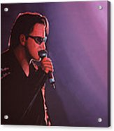 Bono U2 Acrylic Print