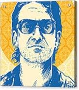 Bono Pop Art Acrylic Print by Jim Zahniser