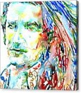 Bono Watercolor Portrait.2 Acrylic Print