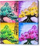 Bonsai Pop Art Acrylic Print