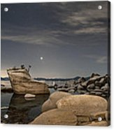 Bonsai Rock With Venus And Mars Acrylic Print