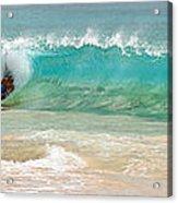 Boogie Board Surfing Acrylic Print