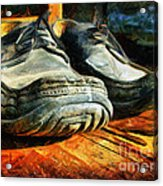 Boogie Shoes - Walking Story - Drawing Acrylic Print