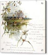 Book Illustration -- April Acrylic Print