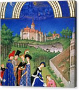 Book Of Hours: April Acrylic Print
