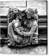 Book Reading  Gargoyle 2009 Acrylic Print