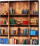 Book Shelf Acrylic Print