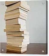 Book Stack On Table Acrylic Print