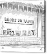 'books On Paper' Acrylic Print