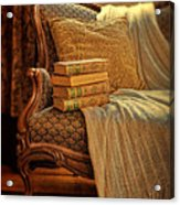 Books On Victorian Sofa Acrylic Print