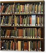 Bookshelves Acrylic Print