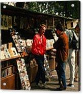 Bookstalls On Left Bank Acrylic Print