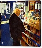 Bookstore Dreamer Acrylic Print