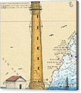 Boon Island Lighthouse Me Chart Art Cathy Peek Acrylic Print