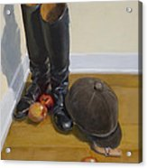 Boots Apples And Hard Hat Acrylic Print
