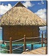 Bora Bora Bungalow Acrylic Print