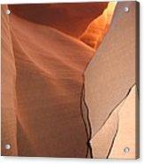 Bordered Rock - Antelope Canyon Acrylic Print