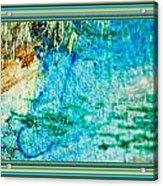 Borderized Abstract Ocean Print Acrylic Print