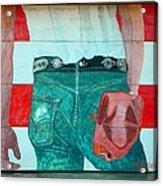 Born In The Usa Urban Garage Door Mural Acrylic Print