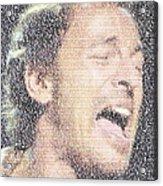 Born To Run Mosaic Acrylic Print