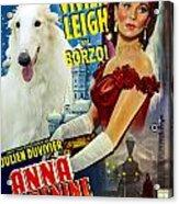 Borzoi Art - Anna Karenine Movie Poster Acrylic Print