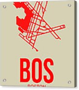 Bos Boston Airport Poster 1 Acrylic Print