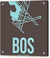 Bos Boston Airport Poster 2 Acrylic Print