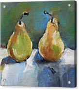 Bosc Pears Acrylic Print by Becky Kim