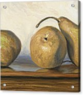 Bosc Pears Acrylic Print by Lucie Bilodeau