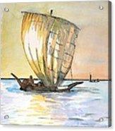 Boso Sailing Boat Acrylic Print