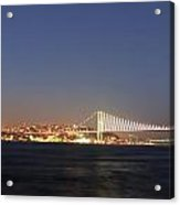 Bosphorus Bridge Night Acrylic Print