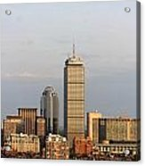 Boston Back Bay With The Prudential Tower Acrylic Print