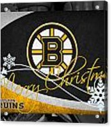 Boston Bruins Christmas Acrylic Print