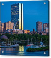 Boston By Night Acrylic Print