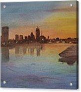 Boston Charles River At Sunset  Acrylic Print