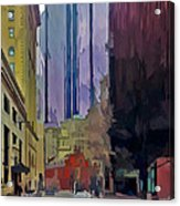Boston City Centre 2 Acrylic Print by Yury Malkov