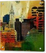 Boston City Collage 2 Acrylic Print by Corporate Art Task Force