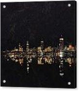 Boston City Skyline 2 Acrylic Print