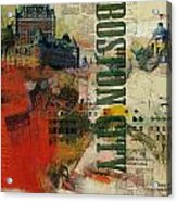 Boston Collage Acrylic Print by Corporate Art Task Force