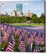 Boston Common Flags Acrylic Print