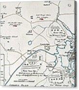Boston-concord Map, 1775 Acrylic Print