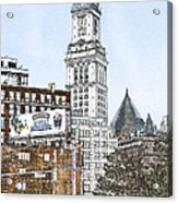 Boston Custom House Tower Acrylic Print