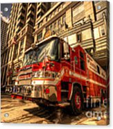 Boston Fire Truck  Acrylic Print