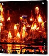 Boston Fireworks  Firepower Acrylic Print
