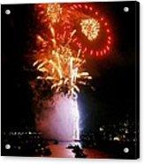 Boston Fireworks  Rings And Pinwheels Acrylic Print