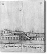 Boston Harbor, 1778 Acrylic Print
