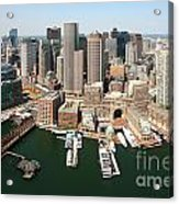 Boston Harbor And Boston Skyline Acrylic Print